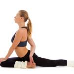 yoga,  isolated, on  white